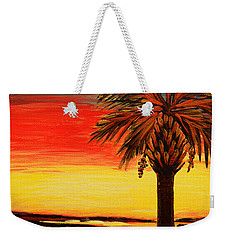 Palmetto Moon And Stars Weekender Tote Bag by Patricia L Davidson