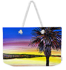 Palmetto Sunset Moon And Stars Weekender Tote Bag by Patricia L Davidson