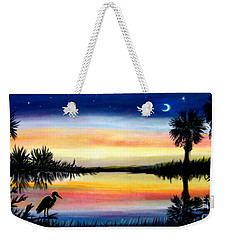 Palmetto Tree Moon And Stars Low Country Sunset IIi Weekender Tote Bag