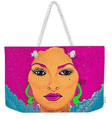 Pam Grier Bold Diva C1979 Pop Art Weekender Tote Bag by Saundra Myles