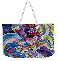 Weekender Tote Bag featuring the painting Panama Carnival. Folk Dancers by Anna  Duyunova