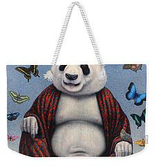 Panda Buddha Weekender Tote Bag