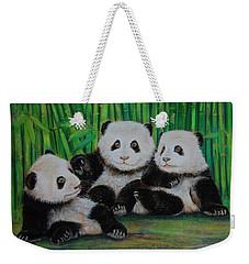 Panda Cubs Weekender Tote Bag