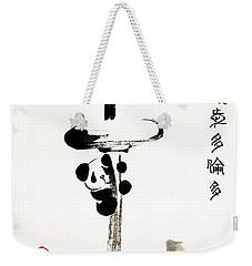 Pandas Love Toronto Weekender Tote Bag by Oiyee At Oystudio