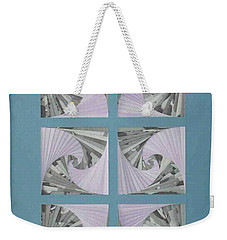 Weekender Tote Bag featuring the mixed media Panes by Ron Davidson