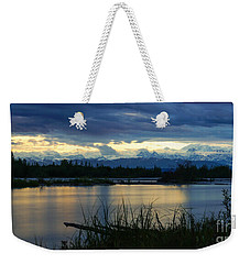 Pano Denali Midnight Sunset Weekender Tote Bag