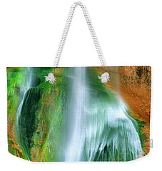 Weekender Tote Bag featuring the photograph Panorama Lower Calf Creek Falls Escalante Nm Utah by Dave Welling