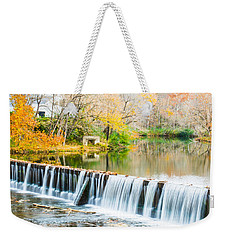 Panorama Of Buck Creek In Autumn Weekender Tote Bag
