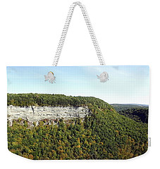 Weekender Tote Bag featuring the photograph Panorama Of Cliff At Letchworth State Park by Rose Santuci-Sofranko