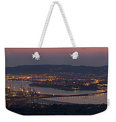 Weekender Tote Bag featuring the photograph Panorama Of Ferrol From Mount Marraxon Galicia Spain by Pablo Avanzini
