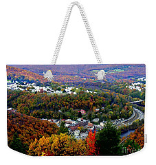 Panorama Of Jim Thorpe Pa Switzerland Of America - Abstracted Foliage Weekender Tote Bag