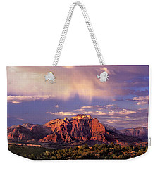 Panorama West Temple At Sunset Zion Natonal Park Weekender Tote Bag