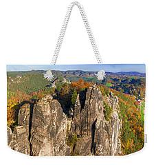 Panoramic Views Of Neurathen Castle Weekender Tote Bag