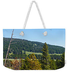 Panoramic Yellowstone Landscape Weekender Tote Bag
