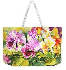 Pansies Delight #3 Weekender Tote Bag