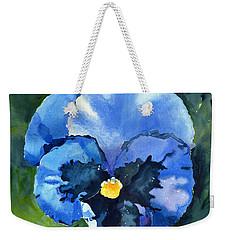 Pansy Blue Weekender Tote Bag