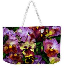 Pansy Mania Weekender Tote Bag