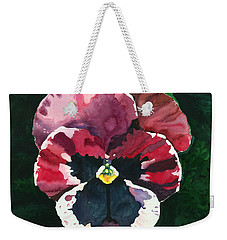 Pansy Red Weekender Tote Bag