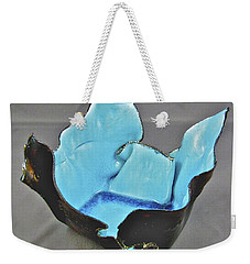 Weekender Tote Bag featuring the sculpture Paper-thin Bowl  09-001 by Mario Perron