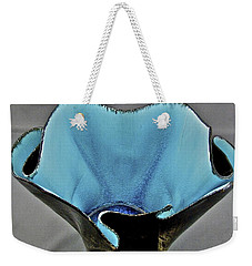 Weekender Tote Bag featuring the sculpture Paper-thin Bowl  09-002 by Mario Perron