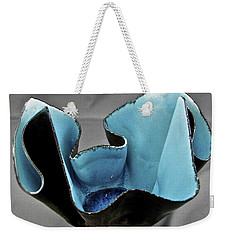 Weekender Tote Bag featuring the sculpture Paper-thin Bowl  09-003 by Mario Perron