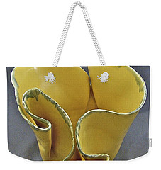 Weekender Tote Bag featuring the sculpture Paper-thin Bowl  09-004 by Mario Perron