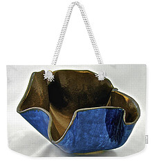 Weekender Tote Bag featuring the sculpture Paper-thin Bowl  09-005 by Mario Perron
