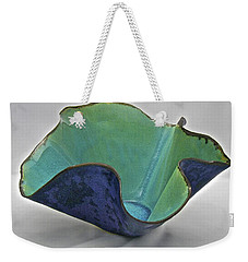 Weekender Tote Bag featuring the sculpture Paper-thin Bowl  09-006 by Mario Perron