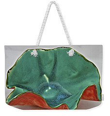 Weekender Tote Bag featuring the sculpture Paper-thin Bowl  09-007 by Mario Perron