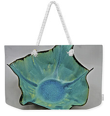 Weekender Tote Bag featuring the sculpture Paper-thin Bowl  09-008 by Mario Perron