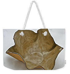 Weekender Tote Bag featuring the sculpture Paper-thin Bowl  09-010 by Mario Perron