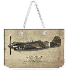 Pappy Boyington P-40 Warhawk - Map Background Weekender Tote Bag
