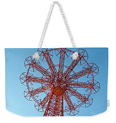 Weekender Tote Bag featuring the photograph Parachute Jump-coney Island by Ed Weidman