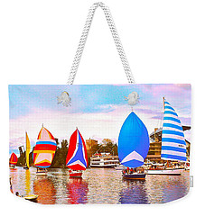 Parade Of Floating Colors Weekender Tote Bag
