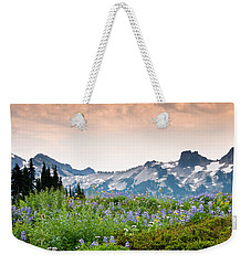 Weekender Tote Bag featuring the photograph Paradise Meadows And The Tatoosh Range by Jeff Goulden