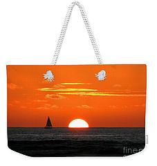 Paradise Sunset Sail Weekender Tote Bag