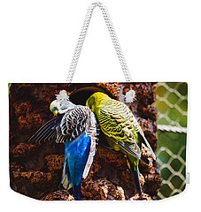 Parakeets Weekender Tote Bag by Pati Photography
