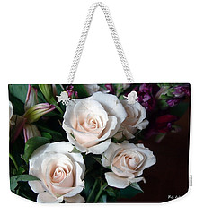 Weekender Tote Bag featuring the photograph Pardon My Blush by RC deWinter