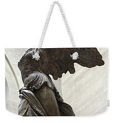 Paris Angel Louvre Museum- Winged Victory Of Samothrace Weekender Tote Bag