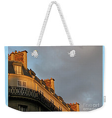 Weekender Tote Bag featuring the photograph Paris At Sunset by Ann Horn