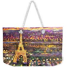 Paris City Of Lights Weekender Tote Bag