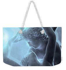 Paris Eros And Psyche - Louvre Sculpture - Paris Romantic Angel Art Photography Weekender Tote Bag by Kathy Fornal