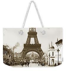 Paris Exposition Eiffel Tower Paris France 1900  Historical Photos Weekender Tote Bag