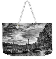 Weekender Tote Bag featuring the photograph Paris by Howard Salmon