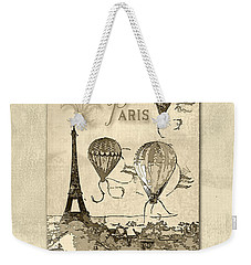 Paris In Sepia Weekender Tote Bag