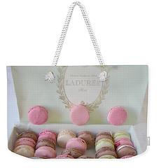 Paris Laduree Pastel Macarons - Paris Laduree Box - Paris Dreamy Pink Macarons - Laduree Macarons Weekender Tote Bag by Kathy Fornal