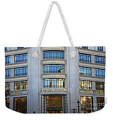 Paris Louis Vuitton Fashion Boutique - Louis Vuitton Designer Storefront In Paris Weekender Tote Bag by Kathy Fornal