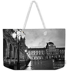 Paris Louvre Museum Lanterns Lamps - Paris Black And White Louvre Museum Architecture Weekender Tote Bag