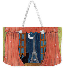 Paris Moonlight Weekender Tote Bag