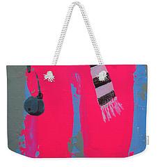 Weekender Tote Bag featuring the painting Paris Promenade by Marina Gnetetsky